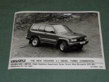"ISUZU TROOPER 3.1 DIESEL TURBO COMMERCIAL factory issued 8x6"" press photo"